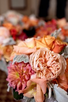 Orange and grey wedding bouquets #orangeandgrey #weddingbouquet LOOOOOOOOOOOOOOOOOOOOOOVE