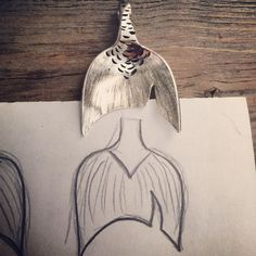 Sterling Spoon Mermaid Tail Pendant by NotSoFlatware on Etsy