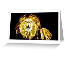 Lion on Fire Greeting Card