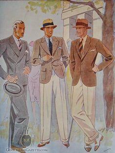 Cream White Flannel Trousers 1920's