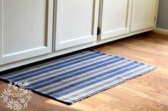 On Sutton Place: Kitchen Decor Ideas (Dash & Albert Otis Navy indoor/outdoor rug)