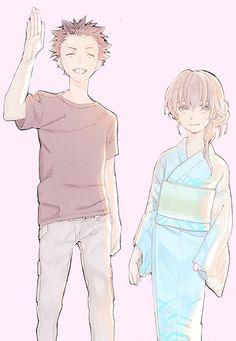 koe no katachi, a silent voice, shouko nishimiya, shouya ishida Kyoani Anime, Anime Films, All Anime, Anime Love, Koe No Katachi Anime, A Silence Voice, A Silent Voice Anime, Voices Movie, Manga Couples