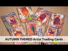 【Mixed Media Art】 Autumn Artist Trading Cards
