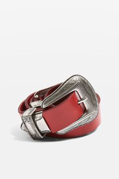 Leather Double Buckle Belt - Belts - Bags & Accessories - Topshop