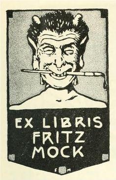 Ex Libris... Fritz Mock... Satyr