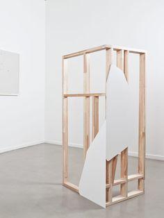 "tcmorrall: "" OLVE SANDE Possling Totem II 2012 140 x 59 x 55 cm Timber, plywood """