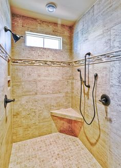 Consider this essential illustration in order to take a look at today ideas on walk In shower small bathroom Custom Built Homes, Custom Home Builders, Huge Bathtub, Multiple Shower Heads, Small Bathroom, Bathroom Showers, Bathrooms, Gray And White Bathroom, Shower Installation