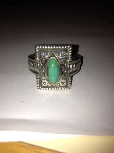 #GreenTurquoise #Sterling #Ring #size7ring #turquoisering #greenturquoisering #cocktailring #vintagering #sterlingsilver #mothersdaygift #southwesternjewelry #tribaljewelry #vintageturquoisering #navajojewelry #statementring #vintagejewelry #jewelry #vintage http://etsy.me/1zZu79q @Etsy