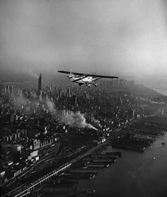 Sightseeing above New York, October 1949