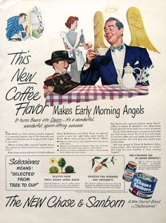 1949 Chase & Sanborn Coffee Ad  Frederick Fritz by RetroReveries