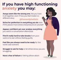 Mental And Emotional Health, Mental Health Matters, Mental Health Issues, Mental Health Awareness, Deal With Anxiety, Anxiety Help, Social Anxiety, High Functioning Anxiety, Stress Relief Tips