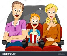 stock-vector-family-watching-movie-vector-53617477.jpg (1500×1264)