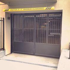 Bi fold garage gate in San Francisco.