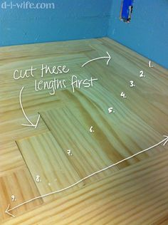 cool inexpensive idea for countertops. anybody know the practicality of a stained, sealed pine counter?