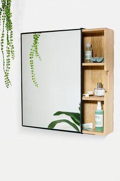 Plymouth Mirror Storage Unit - assorted at Urban Outfitters Bathroom Storage Units, Storage Unit, Wash Basin, Beautiful Bathrooms, Storage Mirror, Glass Mirror, Mirror, Bathroom Mirror Storage, Bathroom