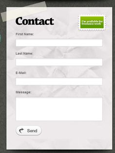 Creative web Forms.
