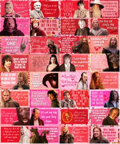 there are over 40 of these! i need them all!   http://peregrint.tumblr.com/tagged/lotr_valentines