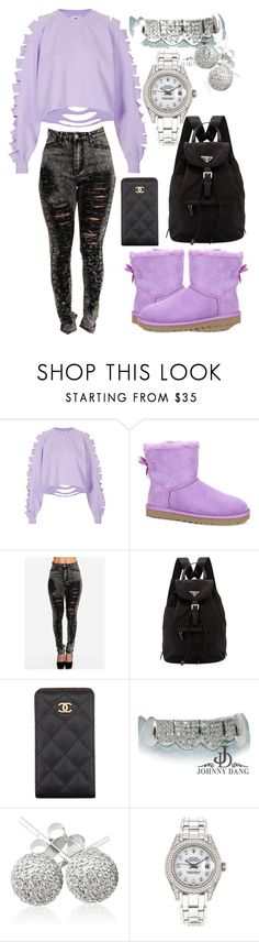 """Good Morning Loves"" by neilaninewsome ❤ liked on Polyvore featuring The Ragged Priest, UGG Australia, Prada, Chanel, CO, Loushelou and Rolex"
