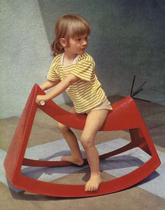"""Fascinated by the wide scope afforded by the new material − GRP, Walter Papst designed a range of furniture for children that Wilkhahn produced in series until the end of the 1960s. Its abstract design and were an expression of the emancipatory approach of the designers associated with the Werkbund, Bauhaus and the Ulm Academy of Design. The functional form, consistently reduced to essentials, received the """"Good Toy"""" award in Ulm in 1960 
