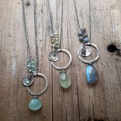 """49 Likes, 7 Comments - dnajewelrydesigns (@donna_angelo.33) on Instagram: """"A few gemstone treasures to end the work day. Chalcedony, Aquamarine & Prehnite, then finally…"""""""