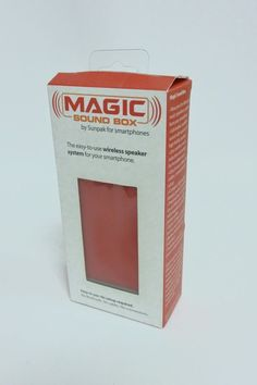 OEM Sunpak Magic Sound Box for Smartphones Wireless Speaker Portable Red #Sunpak