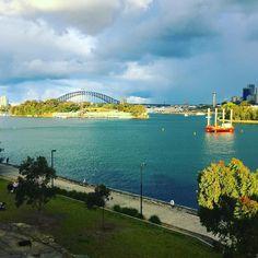 Just another amazing view. #spoilt #cantgetenough #ballastpointpark #goatisland #sydneyharbour #sydneyharbourbridge #sydney #sydney_insta #innerwest #birchgrove #harbourcontroltower #city by amberleymmoore http://ift.tt/1NRMbNv