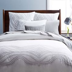 west elm offers modern bedding sets that feature comfort and style. Shop bedroom accessories, including pillows, throws, and duvet covers. Serene Bedroom, Dream Bedroom, Home Bedroom, Bedroom Decor, Master Bedroom, Bedroom Ideas, West Elm Bedding, Bedding Sets, Duvet Cover Sale