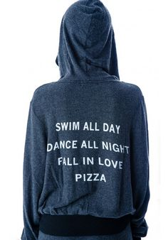 Swim all day. Dance all night. Fall in love. Pizza