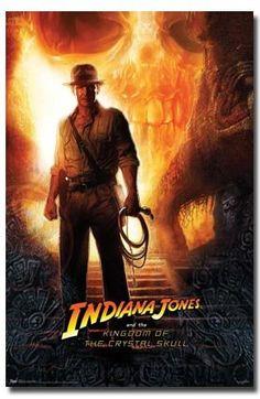 INDIANA JONES KINGDOM CRYSTAL SKULL MOVIE POSTER 9331 @ niftywarehouse.com #NiftyWarehouse #IndianaJones #GeorgeLucas #HarrisonFord #Movies