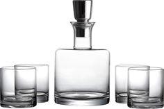 5-Piece Draper Decanter & Glass Set