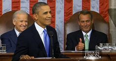 Here's a PHOTO of John Boehner giving Obama a thumbs up after the #barkeep line #SOTU
