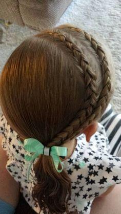 2 dutch braids into a side pony  ♡
