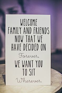 seating sign, photo by Rock This Moment http://ruffledblog.com/san-diego-party-wedding #weddingsigns #signage