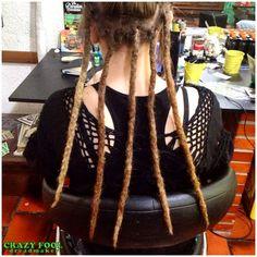 Dreads nos cabelos de Vitória de Nova Hartz/RS