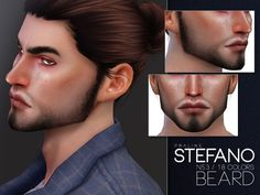 Stefano Beard N53 by Praline Sims for The Sims 4