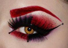 Harley Quinn trucco occhi