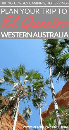Planning a trip to Western Australia? You need to head to The Kimberley and check El Questro station. Hiking, swimming, exploring gorges and a fantastic campground. If you are backpacking Australia then don't miss this beautiful part of the country. Click to find out more!