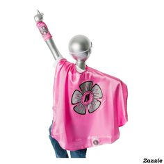 Youth Pink Superhero Costume with Flower,made by Everfan