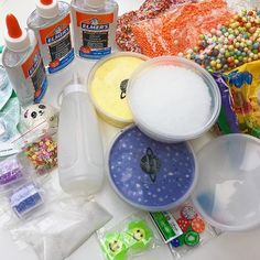 GIVEAWAY CLOSED (Check our story if you wanna see who won) - What's in the giveaway? - 8 oz buttered popcorn floam - 8 oz blackberry cream floam (new slime hehe) - 3 bottles of 5 oz clear glue - 8 oz of slushie beads - model magic clay - 3 bags of different types of foam beads - 4 different glitters - panda squishie - fruit fimo slices - 10 tsp borax - squeeze bottle for activator - 2 packs of cute erasers - 3 empty containers for slime