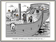 Yo HO Yo HO we love pirates, rum and rum cake http://rumyumcakes.com/cakes/