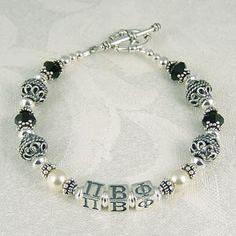 Sorority Bead Bracelet #greek #jewelry