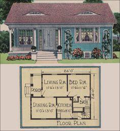 Vintage house plans on pinterest vintage houses house for Builder magazine house plans