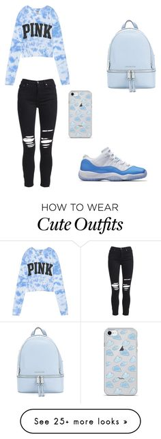 """""""This outfit is just a start"""" by khaliyahrice12 on Polyvore featuring Victoria's Secret, AMIRI and MICHAEL Michael Kors"""
