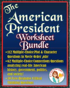 The American President -- Critical Viewing and Multiple Choice BUNDLE Learning Centers, Kids Learning, School Teacher, Teacher Pay Teachers, Spanish Exercises, Character Questions, Valentines Day Activities, Teaching History, American Presidents