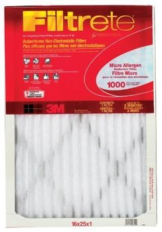 Filtrete Micro Allergen Defense Filter MPR 1000 16Inch x 25Inch x 1Inch 6pack Size 16x25x1 UnitCount 6 Model 9801DC6 Hardware Store *** Click image to review more details.