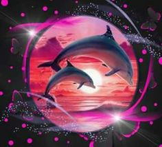 i love you Dolphin Painting, Dolphin Art, Underwater Painting, Dolphin Images, Dolphin Photos, Pretty Wallpapers, Pretty Backgrounds, Cute Animal Pictures, Pretty Pictures
