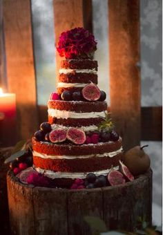 Winter Wedding Cake with figs Wedding Sweets, Wedding Cakes, Pink Und Gold, Banquet, Bohemian Style, Wedding Photography, Pure Products, Cooking, Desserts