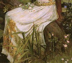 Detail of Ophelia by John William Waterhouse (1894).