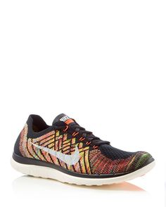 41b0d5dd71 Nike Men's Free 4.0 Flyknit Lace Up Sneakers Men - Bloomingdale's