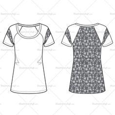 Women's Knit Top Fashion Flat Template